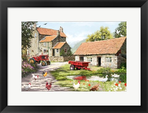 Framed Farmyard 1 Print