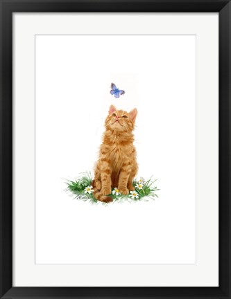 Framed Ginger Cat Print