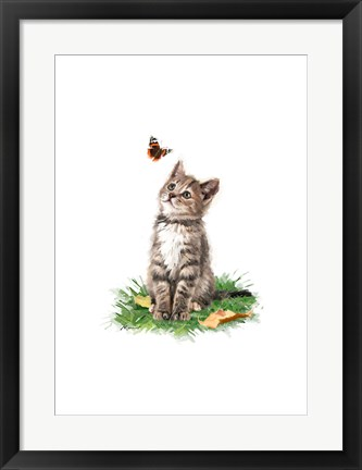 Framed Tabby Cat 1 Print