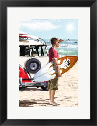 Framed Surfer Print