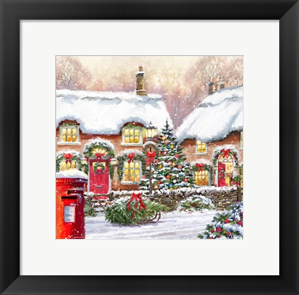 Framed Cottages Print