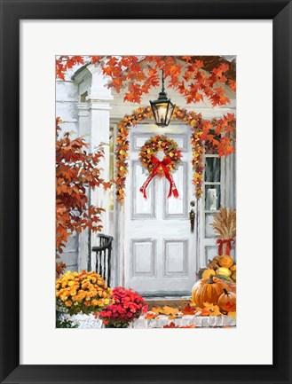 Framed Fall Decorations Print