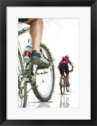 Framed Mountain Bikes Print