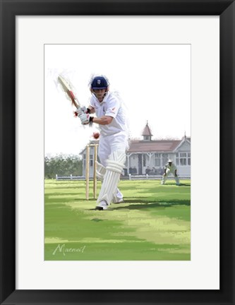 Framed Cricket Pavillion Print