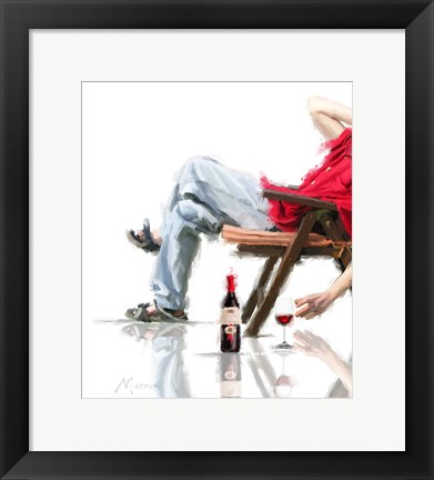 Framed Male In Chair Print