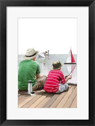 Framed Dad Son Boat Print