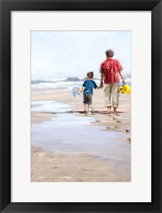 Framed Beach Combers Print
