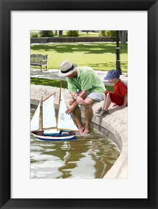 Framed Boating Lake Print