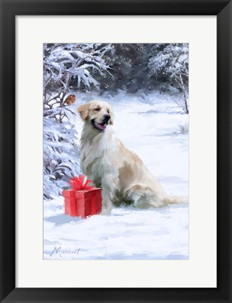 Framed Dog With Gift Print