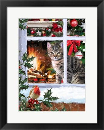 Framed Tabby Cat 2 Print