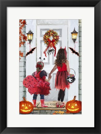 Framed Trick Treat Girls Print