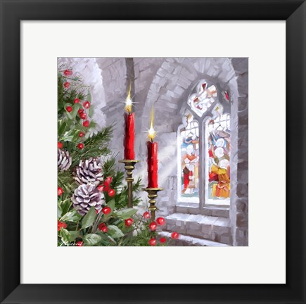 Framed Church Window 1 Print