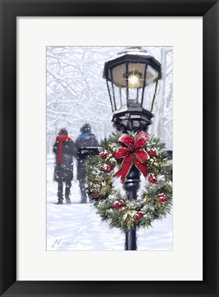 Framed Couple And Lantern Print