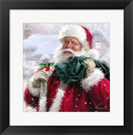 Framed Santa Without Badge Print