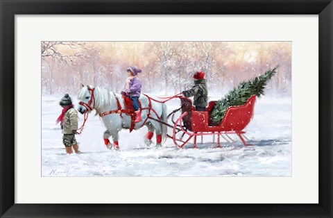 Framed Pony Cart 1 Print