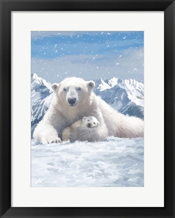 Framed Polar Bear Print