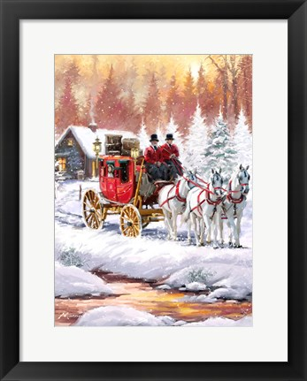 Framed Coach And Horses Print