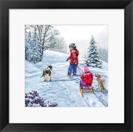 Framed Pulling Sledge 1 Print