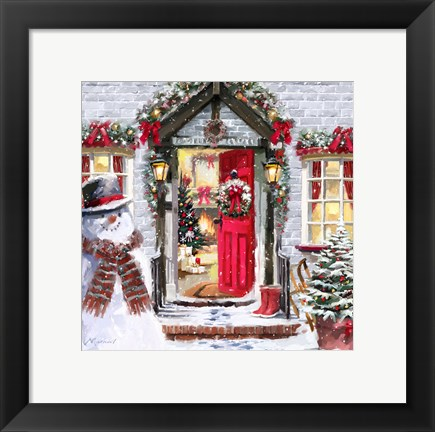 Framed Red Front Door Print