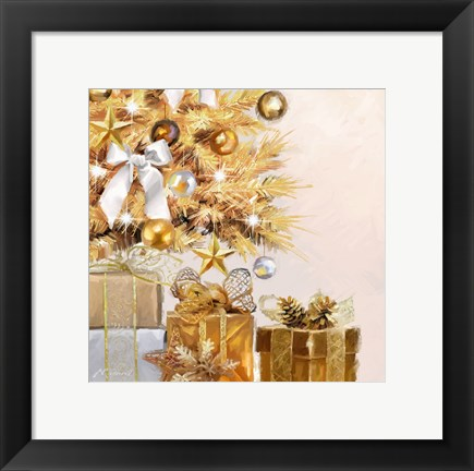 Framed Gold Tree Print