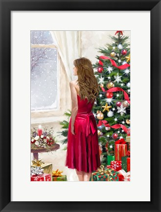 Framed Christmas Dress Print