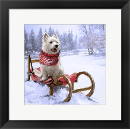 Framed Westie Outdoor Print