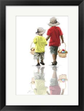 Framed Boys With Eggs Print