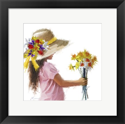 Framed Easter Bonnet Print