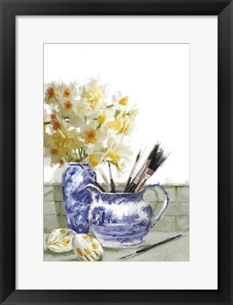 Framed Painted Eggs Print