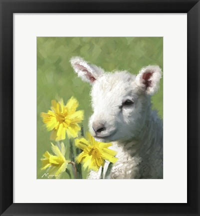 Framed Easter Lamb Print