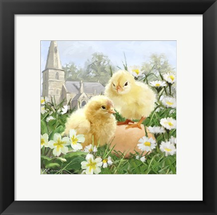 Framed Easter Chicks 2 Print
