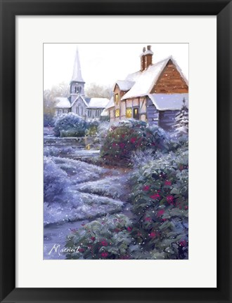 Framed Frost And Snow 1 Print