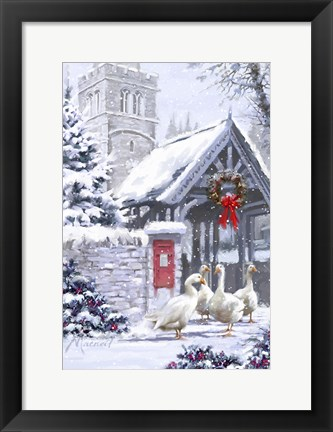 Framed Church Geese Print