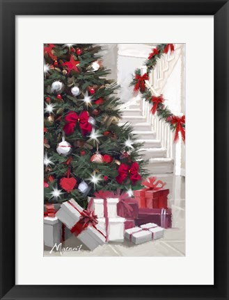 Framed Garland Stair Print