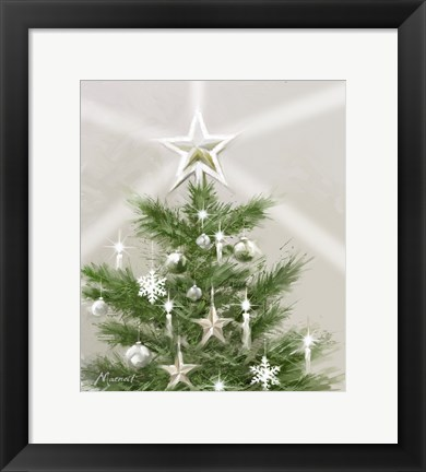 Framed Christmas Star Print