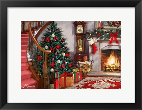 Framed Red Staircase Print