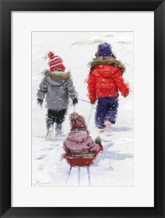 Framed Pulling Sledge 3 Print