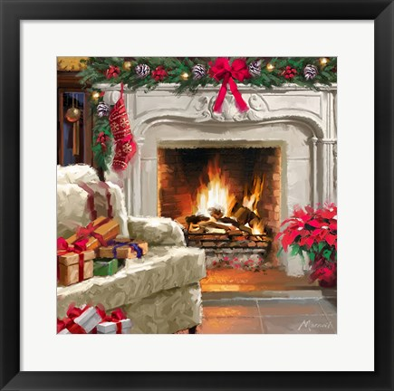 Framed Fireplace 3 Print