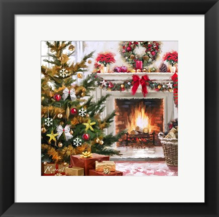 Framed Decorated Hearth 1 Print