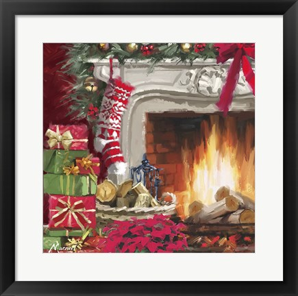 Framed Decorated Hearth 2 Print