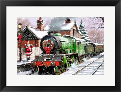 Framed Steam Train Print