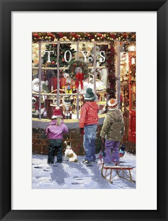 Framed Toy Shop 2 Print