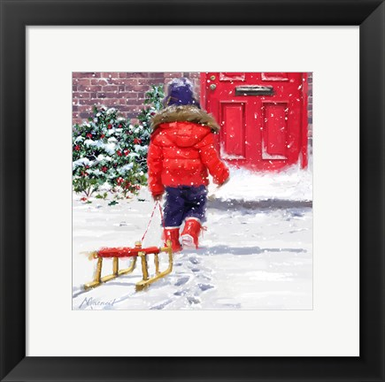Framed Red Coat Print