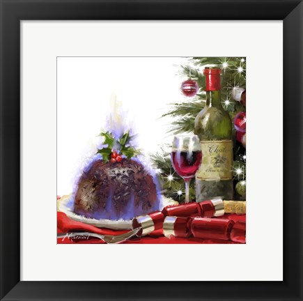 Framed Christmas Pudding Print