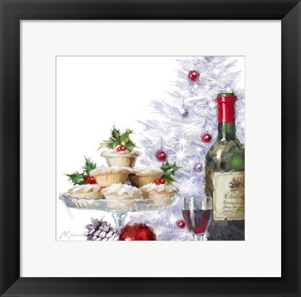 Framed Mince Pies 2 Print