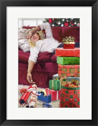 Framed Girl Wrapping Print