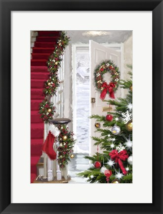 Framed Interior Stairs Print