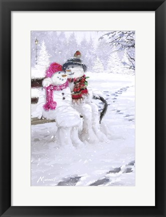 Framed Snow Couple 1 Print