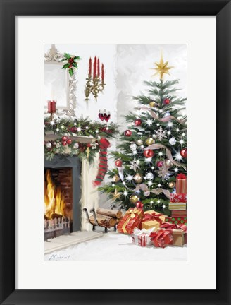 Framed Christmas Interior 2 Print