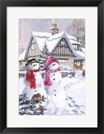 Framed Snow Couple 2 Print